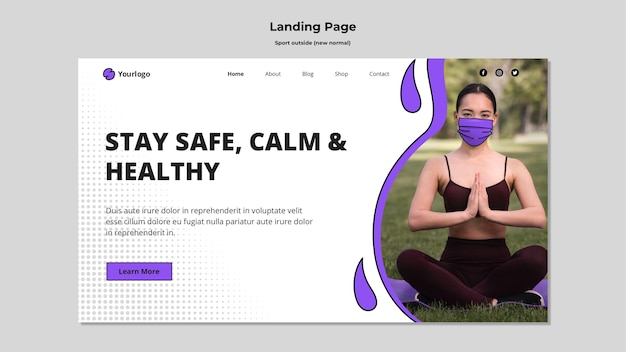 Sport outside landing page template