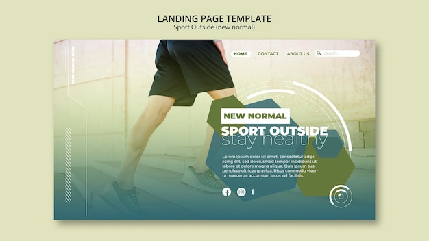 Sport outside landing page theme