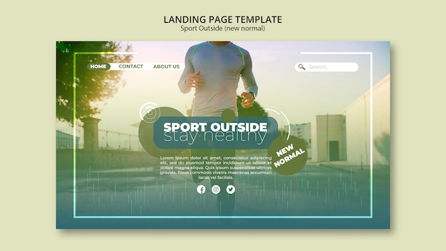 Sport outside landing page webtemplate