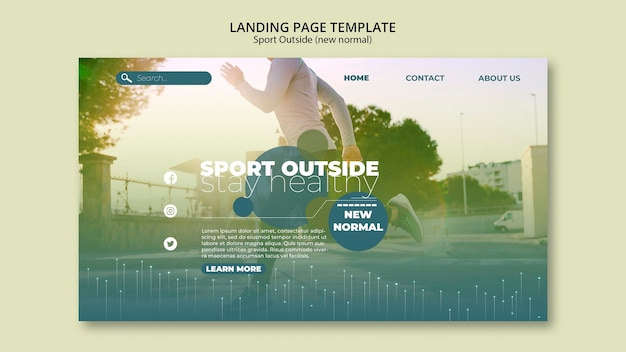 Sport outside landing page