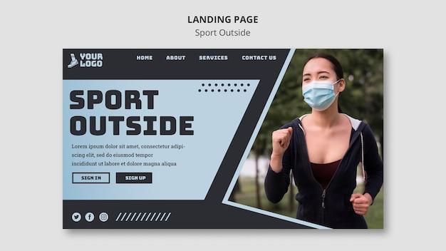 Sport outside landing page