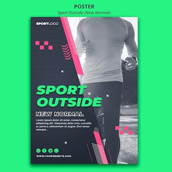 Sport outside poster design