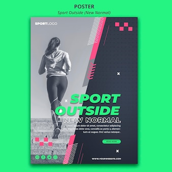 Sport outside poster style
