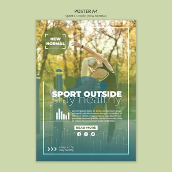 Sport outside poster template style