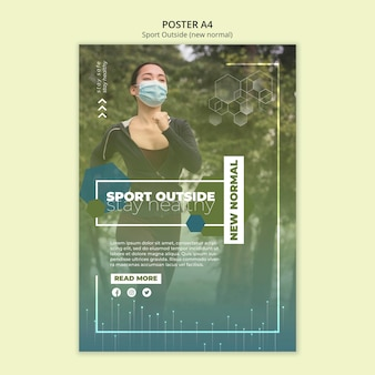 Sport outside poster template