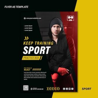 Modello di stampa sportiva con foto Psd Gratuite