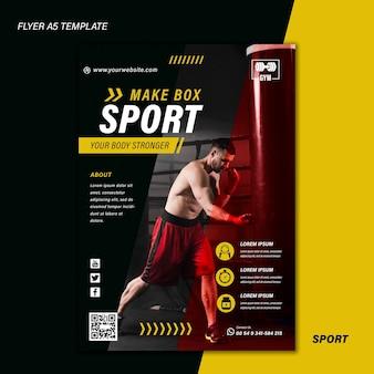 사진이있는 스포츠 인쇄 템플릿