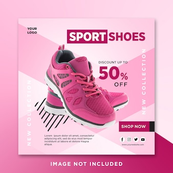 Sport shoes sale social media post template
