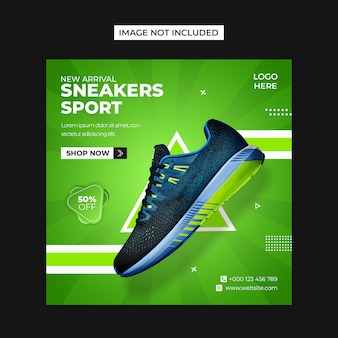 Sport shoes social media and instagram post template