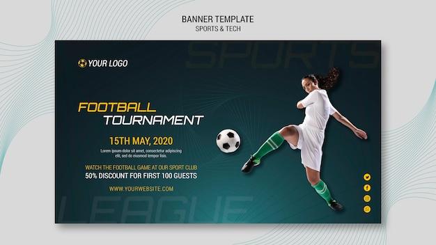 Design di banner sportivi e tecnologici