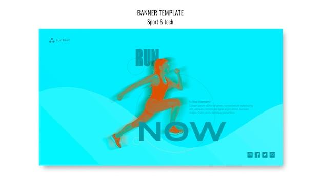 Sport & tech concept banner template