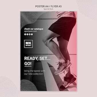Sport & tech flyer template theme