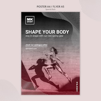 Sport & tech flyer template theme