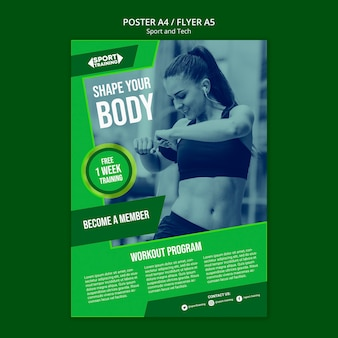 Sport and tech flyer template