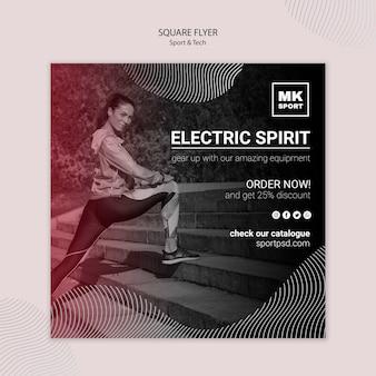 Sport & tech flyer template