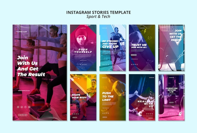 Sport & tech instagram stories template
