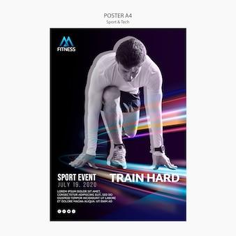 Sport and tech motivational poster
