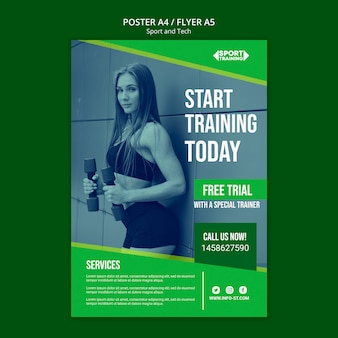 Sport and tech poster template