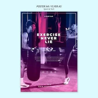Sport & tech poster template