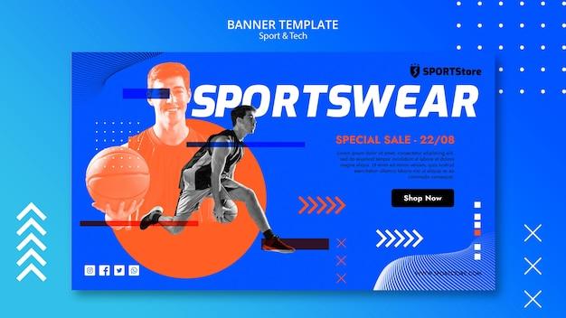 Modello di sport e tecnologia per la progettazione di banner