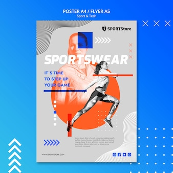 ポスターのスポーツ&テックテンプレート 無料 Psd