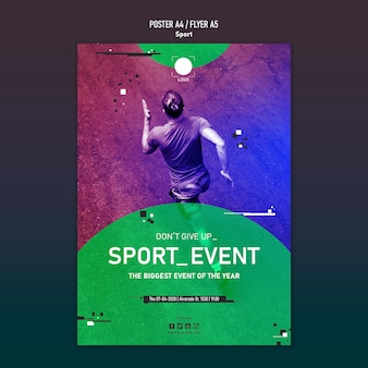 Sport template poster concept