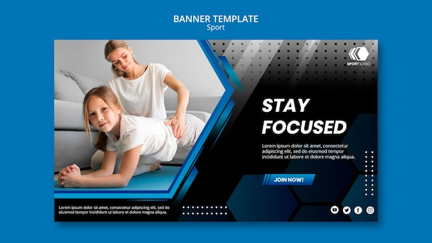 Sports banner template
