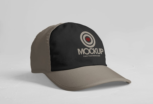 Sports cap logo mockup design isolated
