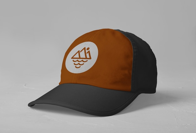 Sports cap logo mockup isolated