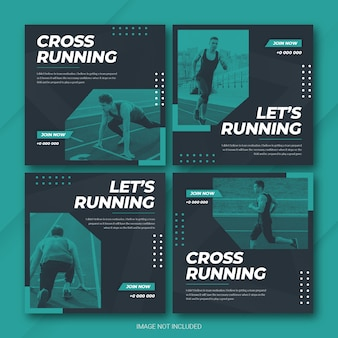 Sports instagram post bundle