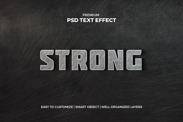Sports metallic text effect