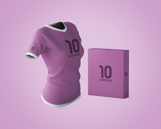 Sports shirt mockup with brand logo