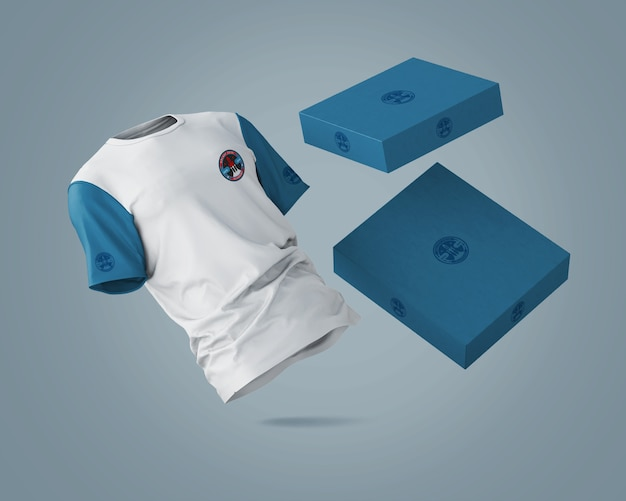 Sports shirt mockup with brand logo