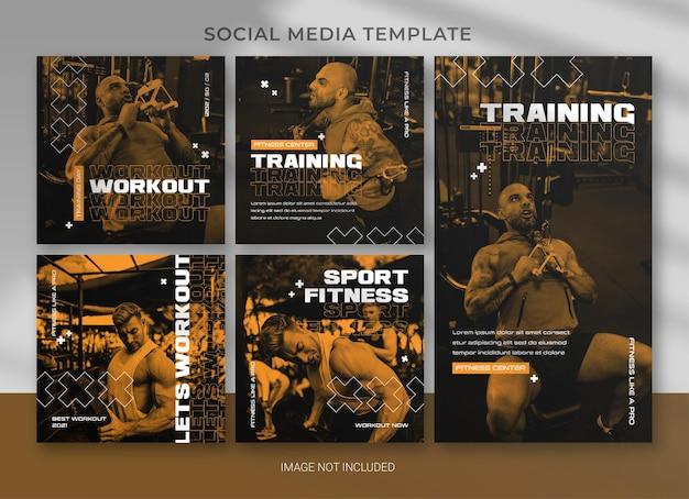 스포츠 소셜 미디어 팩 번들 템플릿 디자인