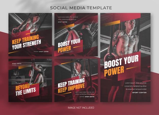 Дизайн шаблона пакета спортивных социальных сетей