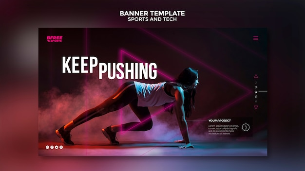 Sports and tech banner template
