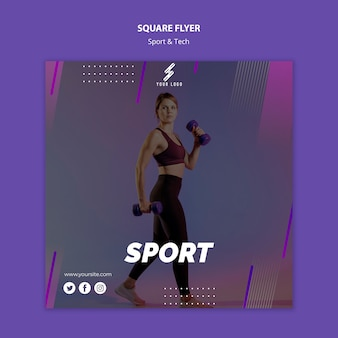 Sports and tech flyer template
