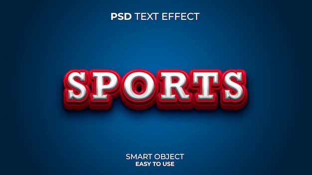 赤と青の色のスポーツテキスト効果テンプレート