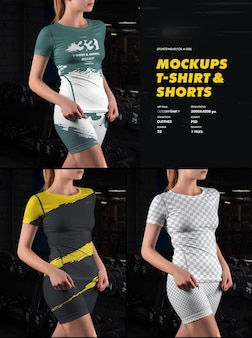 스포츠 티셔츠 및 반바지 모형