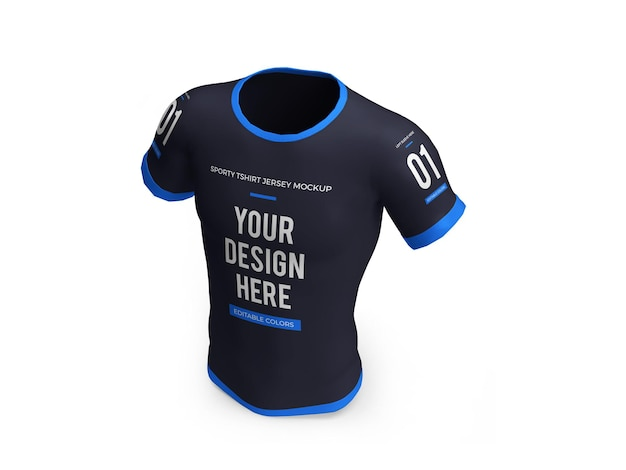 Sporty tshirt jersey 3d mockup isolated