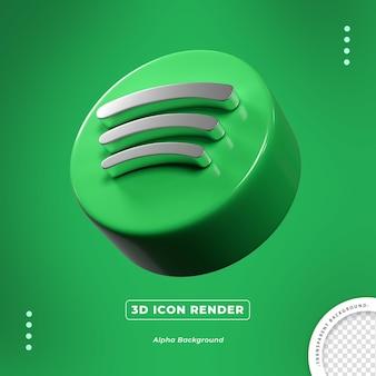 Spotify 3d изолированные значок рендеринга сбоку