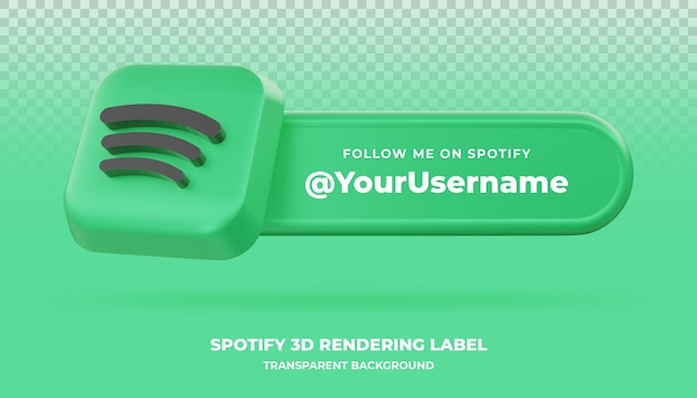 Spotify 3d rendering banner isolated