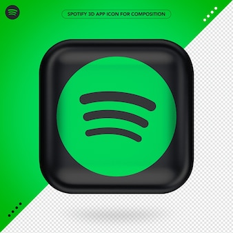 Spotify icon isolated in 3d rendering