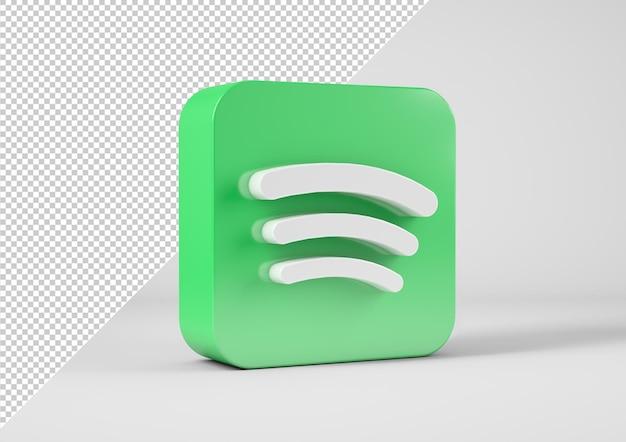 3d 렌더링의 Spotify 로고 프리미엄 PSD 파일