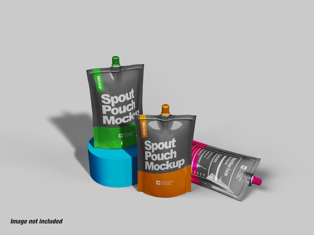 Spout pouch or doypack mockup
