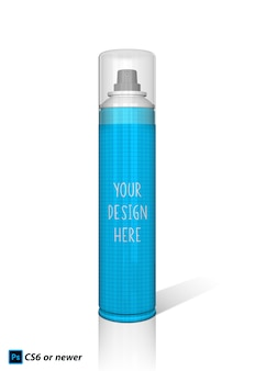 Spray bottle mock up
