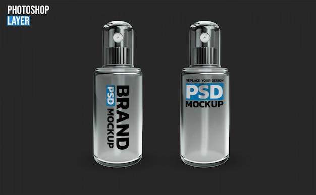 Спрей бутылка макет 3d-рендеринга дизайн