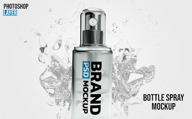 Spray bottle mockup 3d rendering  design