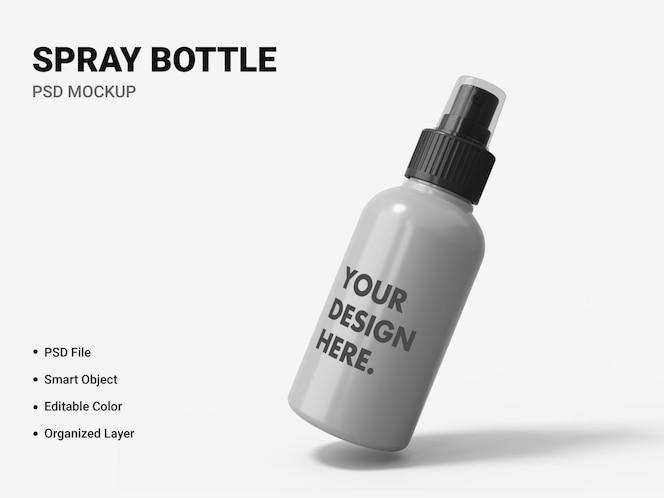 spray bottle mockup design isolated