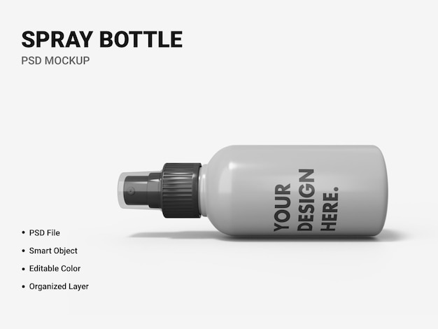 Spray bottle mockup design isolated